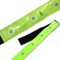 Safety Outdoor Reflective Yellow Armband Red LED Lights Runn...