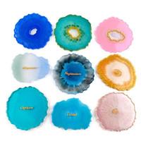 Агат силиконовые формы эпоксидной смолы Mold Большой Нерегулярные чашек Coaster Изготовление ювелирных изделий Craft DIY Формы YYA66
