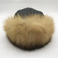 Outdoor Luxurious Natural Fox Fur Hat Women Winter Warm Thic...