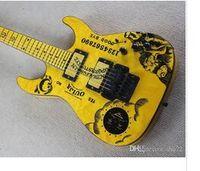 E 사용자 정의 새로운 한정판 커크 해밋 서명 노란색 전기 기타 무료 배송