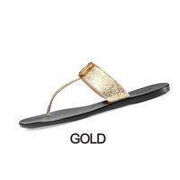 Femmes flip flops hommes cuir sandales femmes avec Double Métal Blanc Noir Brown Summer Beach Sandales ETUI