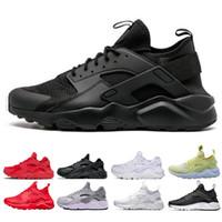 2019  Huarache 1.0 4.0 Run Ultra SE IV Chaussures De Course Pour Hommes Formateur Triple Noir Rouge Gris Léger Athlétique Sport Sneakers De Plein Air