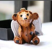 Conejo león cachorros llavero diseñador de moda bolso hombro cadena colgante creativo animal perro mochila conejito colgante