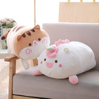 "23"" Fat unicorn plush pillow round soft cat hamster toy..."