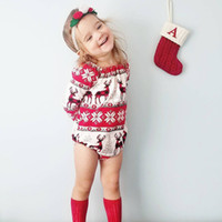good quality Christmas clothes Newborn Baby rompers Girl Car...