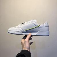 03 Ücretsiz Nakliye Clover Continental 80 kanye west calabasas powerphase erkekler kadınlar Klasik Üçlü siyah beyaz Rahat Ayakkabılar sneakers