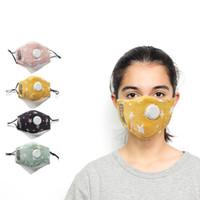 Estrela crianças PM2.5 Respirador Covers Facial Skin Care reutilizável Proteção Masque Anti respirar a poeira máscaras válvula DDA312