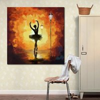 Hand painted Abstract painting Canvas art Ballet Dancer yell...
