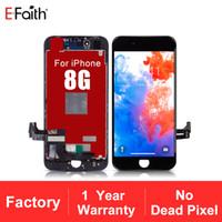 EFaith LCD para la visualización de alta calidad 8G Sin Dead Pixel LCD para iPhone 8 Plus pantalla táctil 1 año de garantía + envío libre de DHL