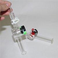 Hunde Glasik-Gla-Rig-Stick Mini-Nektar-Sammler mit dickem Pyrex-Filter-Tipps Tester Strohrohr-Wasserleitungen