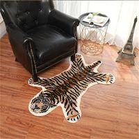 Alfombras creativa Animal Tiger Leopard en forma de huella felpa Alfombra antideslizante estera del piso para de interior decoración para el hogar 48hf E1