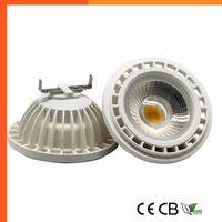 Lampadina LED dimmerabile AR111 QR111 GU10 G53 Faretto LED COB 15W DC12V AC110V 120V 220V 230V Faretto Lampadina Luce Calda Freddo Bianco