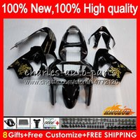 Body For KAWASAKI ZX900 ZX9 R glossy black ZX 9R ZX9R 98 99 ...