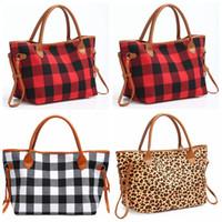 Buffalo Проверить сумку красного черного плед сумка большой емкость Leopard путешествие Tote Спорт сумка Duffle Crossbody плечо сумка GGA2984