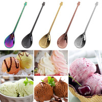 Stainless Steel Lute Shape Spoon Creative Milk Coffee Ice Cr...