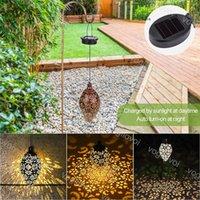 Çim Lambaları Güneş Bahçe Işıkları Su Damlası Demir ABS Gece Lambası Sıcak Beyaz Açık IP65 Yolu Avlu Peyzaj DHL Için Asılı