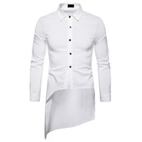 무료 배송 긴 소매 솔리드 남성 셔츠 제비 꼬리 디자인 남자 드레스 셔츠 모디 Camisas Blusa Masculina 클래식 Roupas