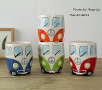 Бесплатная доставка F1 Camper Van Adventures! Ретро кружка автомобиля керамическая хиппи кофе кружка с подарочной коробкой