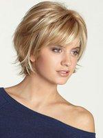 Les perruques sont un vendeur à chaud des femmes avec une frange de couleur claire, cheveux humains, perruques, cheveux courts et cheveux courts