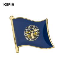 E.U.A. Nebraska Flag épinglette drapeau Badge épinglettes Badges Broche XY0191