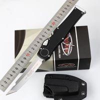 """Microtech Scarab Halo V VI coltello (4,5 """"satinato) Tanto Edge Azione singola TRODON Coltelli tattici Survival Gear Knives"""