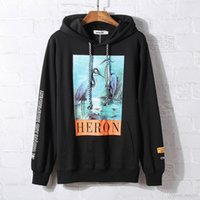 Crane Printed Sweatshirt Men' s and Women' s Hip Hop...