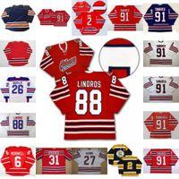 Oshawa Generals Jersey 88 Eric Lindros 27 Kewin 26 Shane Doyle 31 Dirienzo 91 John Tavares 2 Bobby Orr 6 Jimmy McDowell Hockey Jersey