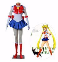 Anime Sailor Moon Tsukino Usagi Dress Cosplay Costume Set Custom Made For Child Girl Women High Quality