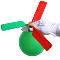 Frete Grátis Balão de Aeronaves Helicóptero Flying Ball Será chamado Child com Whistle Toy Enviar 10 balões e uma tampa de sopro