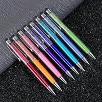 bolígrafo pluma fino cristal moda creativo lápiz táctil toque para escribir papelería oficina escuela bolígrafo bolígrafo azul azul