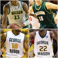 Personalizado George Mason Basketball Jersey NCAA Jamal Hartwell II Javon Greene Miller Wilson Xavier Johnson Josh Oduro