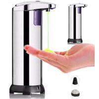 Aço inoxidável Soap Automatic Sensor Dispenser Sabonete Líquido Dispensers Dispenser Sensor portátil ativado por movimento 10pcs Dispenser CCA12204