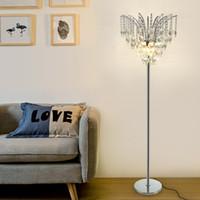 Новый дизайн современная творческая роскошь D 45 см x H 160 см хрустальные напольные светильники led стоячая лампа для читального зала спальня диван сторона