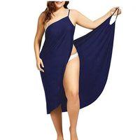 Oüfisun Frauen plus Größe Pareo Beach Cover Up Wickelkleid Bikini Badeanzug Cover UPS ROBE DE Plage Beachwear Femme Tunika Kaftan1