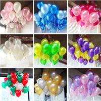 100 unids / lote globos de cumpleaños de 10 pulgadas colores surtidos globo de látex para bodas de la fiesta de cumpleaños y cualquier evento niño niño juguete bolas de aire