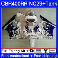 Kit llamas azules para HONDA NC29 CBR400 RR CBR400RR 94 95 96 97 98 982HM.23 CBR 400 RR NC23 CBR 400RR 1994 1995 1996 1997 1998 1999 Carenados