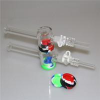 New Vidro Nectar Collector Kit com 10mm Pipes Masculino queimador de óleo Tubo Grosso pirex de vidro de silicone Container Recuperadora para somking