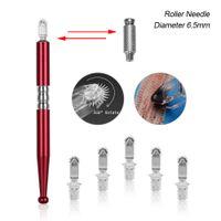 5pcs Needles rolo Permanente Makeup Manual de Abastecimento MicroBlade Pen Tattoo Abastecimento Eye Brow ferramenta profissional MicroBlade