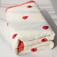 Baby Cotton Quilt Infant Herbst-Winter-Quilt-Kind-Karikatur Baumwolle verdicken Warme Decke für Kinder Nap Quilt Spaziergänger Schlaf-Abdeckung freies Verschiffen