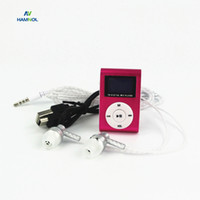 HAMNOL Mini MP3 PlayerWith Screen Metal MP3 Clip Support Mic...