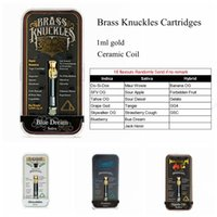 Hot Connected Abracadabra Brass Knuckles Cartucce vuote 1ml Vape Tank 510 Ceramic Coil Vaporizzatore Pen Cartucce Olio denso Atomizzatore Ecig