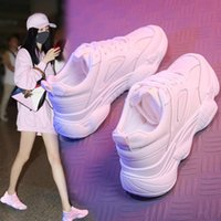 Summer New Designer Wedges Pink White Platform Sneakers Wome...