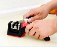 Apontadores disco Carbide Handle Ceramic Household Faca Grindstone Grosso Fino Pedra de Afiar de cozinha Acessórios 3 cores