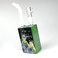 Nueva plataforma de zumos de 14 mm con un vaso de precipitado cuadrado grueso de 7.5 pulgadas Heady Hitman Glass Bongs de agua de colores líquido Sci Juice Box
