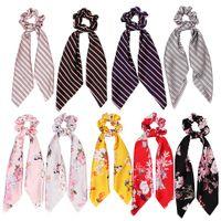 Vintage Satin Ponytail Holder Mode Femme Arc Bandeau Cravates Cravate Corde En Caoutchouc Chapeau Partie Cheveux Accessoires TTA1501
