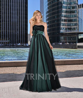 Excellent Green Black Tulle Strapless Evening Dresses Specia...