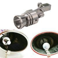 2XCar Turbo Sound صافرة كاتم الصوت أنابيب العادم الذيل الأنابيب محاكي ويسلر الحجم S ، M ، L ، XL أنابيب العادم ينفخون صمام بوف محاكي