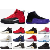 Buenos zapatos de baloncesto WNTR para hombres 12s blanco Juego de gripe GYM BULILLOS ROJOS cool Gym rojo maestro francés azul para hombre diseñador de zapatos deportivos