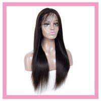 페루 인간의 머리 13 * 4 레이스 프런트 가발 실키 스트레이트 자연 색상 밍크 12-32inch 레이스 프론트 가발 무료 부품