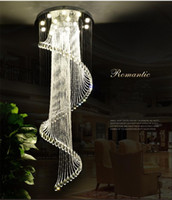 2019 new Chandeliers K9 Crystal Spiral Ceiling Light Modern ...